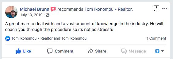 Client Testimonial Tom Ikonomou